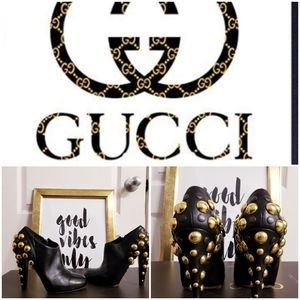Authentic Gucci Babouska Studded Booties